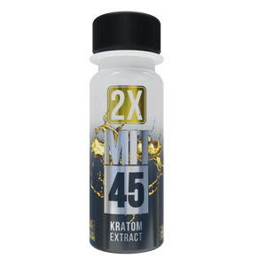 MIT45 Silver 2x Kratom Shot Bottle