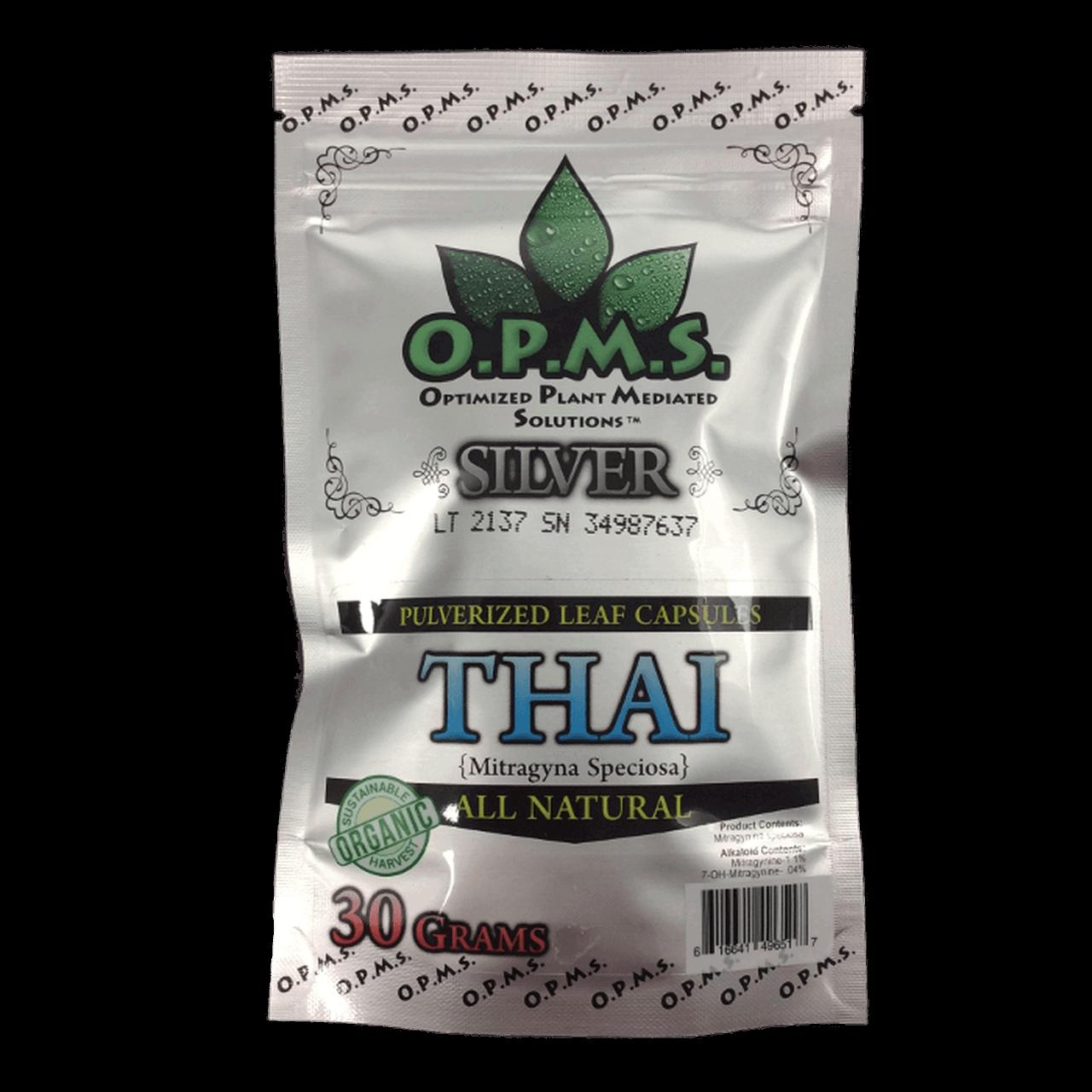 OPMS Silver Thai Kratom Capsules